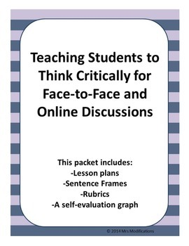 Teaching Students to Think Critically Online