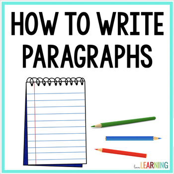 Writing Paragraphs Using the Color Technique {Lesson and P