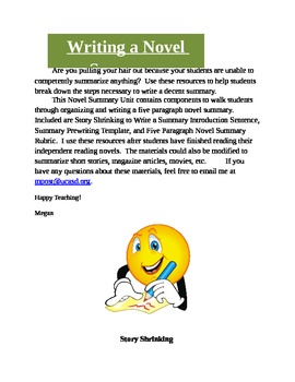 Teaching Students to Write a Novel Summary
