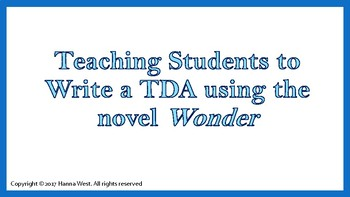 Wonder by R.J Palacio- A Guide to Answering Text-Dependent Analysis Questions