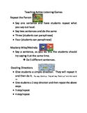 Teaching Students to be Active Listeners/short games/time fillers