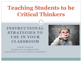 Professional Development: Teaching Students to be Critical
