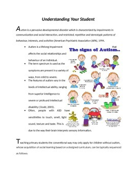 Special Education: Teaching Students with Autism (for new teachers)