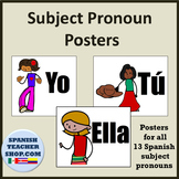 Spanish Subject Pronouns Posters
