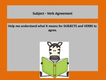 Teaching Subject Verb Agreement with a PowerPoint Presenta