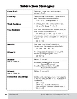 Teaching Subtraction Strategies, Grade 3