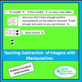 Teaching Subtraction of Integers with Manipulatives