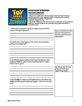 Teaching Suspense and Foreshadow through Toy Story of Terror