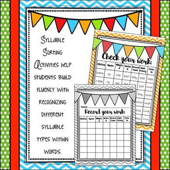 Teaching Syllable Types: Reference Posters and Activities!