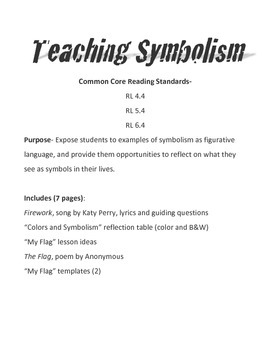 Teaching Symbolism (Figurative Language)