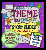 Finding & Teaching THEME: ~ANIMATED STORY SLIDES: SUPPLEMENTAL POWER POINT