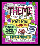 Finding & Teaching THEME: Task Cards & More w/ Bonus POWER POINT