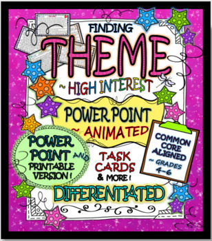 Finding & Teaching THEME Task Cards & More (DIFFERENTIATED