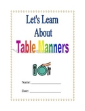 Teaching Table Manners and Etiquette Packet; life skills;