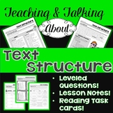 Teaching & Talking about Text Structure: Leveled Questions