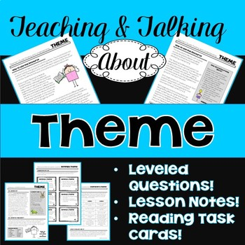 Leveled questions task cards teaching resources teachers pay teachers teaching talking about theme notes leveled questions task cards gr fandeluxe Gallery