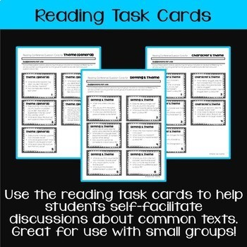 Teaching & Talking about Theme: Notes, Leveled Questions, & Task Cards (gr. 6-8)