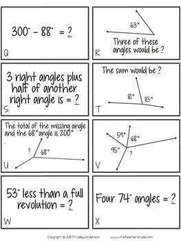 Teaching Tandems:  Angle Studies