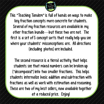 Teaching Tandems:  Fractions