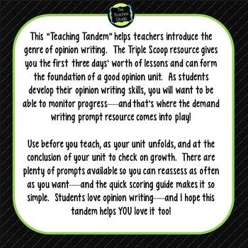 Teaching Tandems:  Opinion Writing