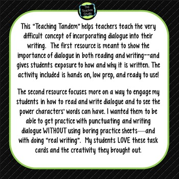 Teaching Tandems:  Teaching Dialogue
