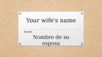 Teaching Taxes - Tax Words Translated to Spanish