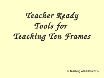 Teaching Ten Frames