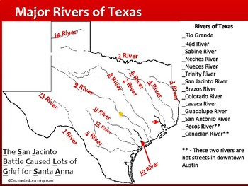 Teaching Texas Major Cities And Rivers No Prep By History On The - Map of texas cities and rivers
