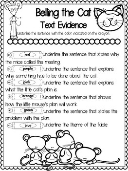 Teaching Text Evidence With Fables--Belling the Cat