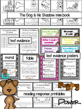 Teaching Text Evidence With Fables: The Dog & His Shadow