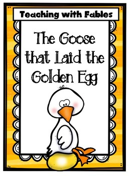 photo relating to Printable Fables called Instruction Words Proof With Fables: The Goose that Laid the Golden Egg