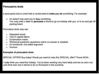 Teaching Text Types