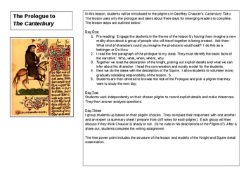 Teaching The Canterbury Tales to Low Level Readers