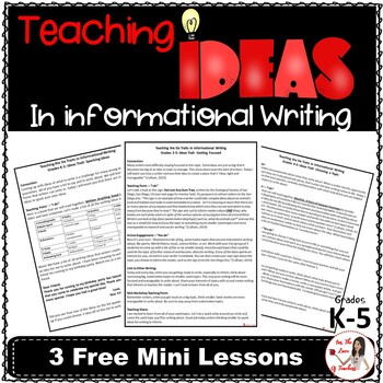 Teaching Ideas in Informational Writing