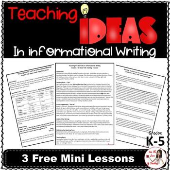 Teaching Ideas in Informational Writing