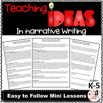 Teaching Ideas in Narrative Writing