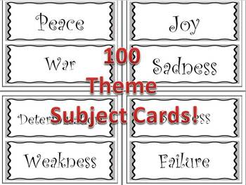 Teaching Theme 100 Theme Subject Cards + Activities Common Core