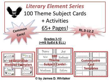 Teaching Theme 100 Theme Subject Cards + Activities Common Core
