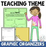 Teaching Theme Graphic Organizers and Sticky Note Templates