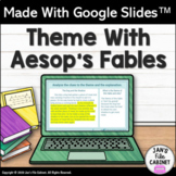 Teaching Theme Lesson Aesop's Fables INTERACTIVE GOOGLE SLIDES Distance Learning