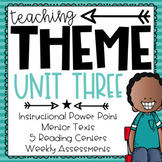 Teaching Theme {PowerPoint, Mentor Text, Centers, and Assessment}