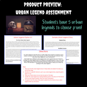 Lesson Plan in Teaching Theme: Powerpoint and Urban Legend Activity!