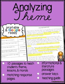 Teaching Theme Reading Passages with Questions