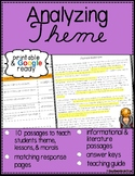 Teaching Theme Reading Comprehension Passages with Questions