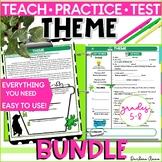 Teaching Theme Slideshow, Notes, Practice, Test PRINT & DIGITAL