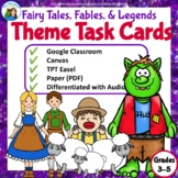 Teaching Theme Task Cards: Fairy Tales, Fables, and Legends