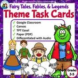 Teaching Theme Digital & Printable Task Cards: Fairy Tales