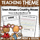 Teaching Theme with Fables - The Town Mouse & the Country Mouse