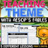 Teaching Theme with Aesop's Fables Print or Google Classroom Distance Learning
