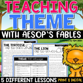 Mastering Theme with Aesop's Fables by Kim Miller | Teachers Pay ...